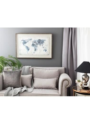 Madame Coco Planétaire Dünya Haritası Tablo Renkli